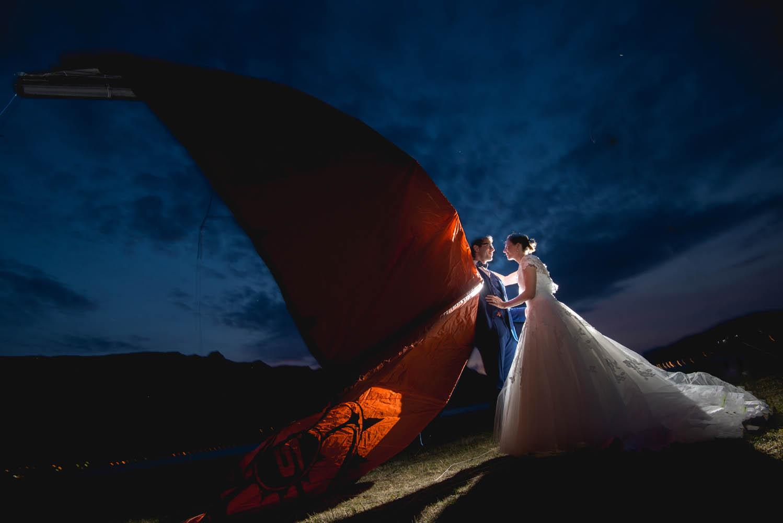 Mariage en kite surf