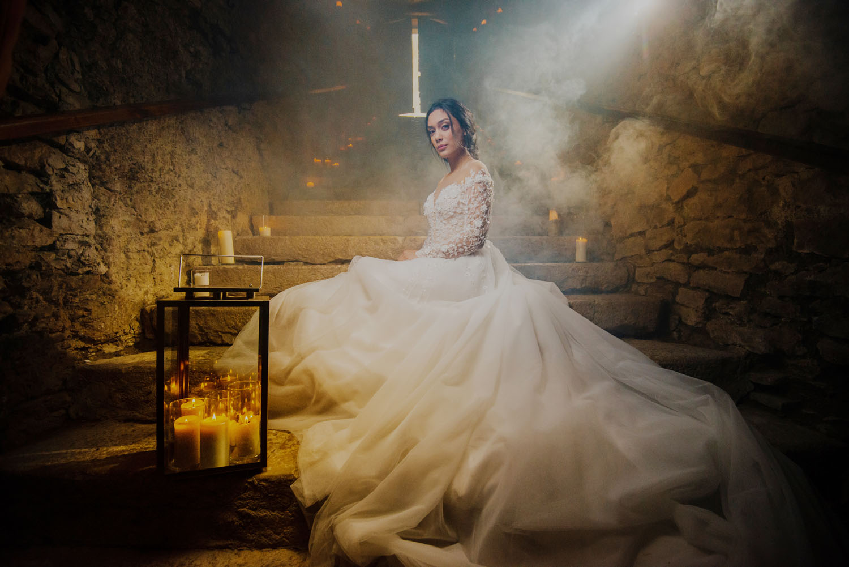 mariage feerique au château Chapeau Cornu